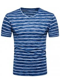 V Neck Stripe T-shirt