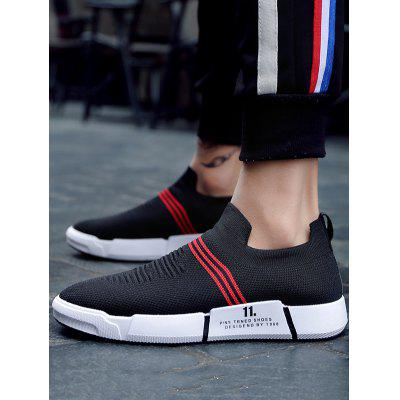Knitted Fabric Elastic Slip On Striped Casual ShoesCasual Shoes<br>Knitted Fabric Elastic Slip On Striped Casual Shoes<br><br>Closure Type: Slip-On<br>Embellishment: Letter<br>Gender: For Men<br>Occasion: Casual<br>Outsole Material: Rubber<br>Package Contents: 1 x Casual Sneakers (pair)<br>Pattern Type: Striped<br>Season: Winter, Summer, Spring/Fall<br>Shoe Width: Medium(B/M)<br>Toe Shape: Pointed Toe<br>Toe Style: Closed Toe<br>Upper Material: Knitted Fabric<br>Weight: 1.2000kg