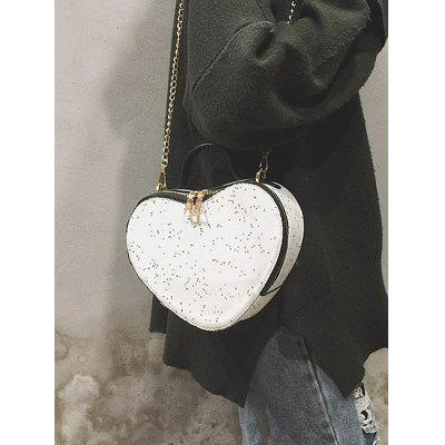 Glitters Heart Shaped Crossbody Bag