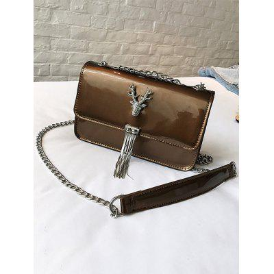 Deer Tassel Closure PU Leather Crossbody Bag pu tassel design crossbody bag