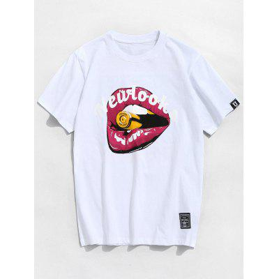 Letter Mouth Pattern Tee