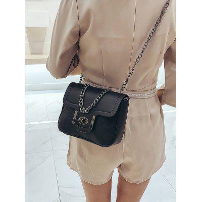 PU Leather Hasp Chunky Chain Shoulder Bag jianxiu women messenger bags split leather bolsos mujer bolsa sac tassen bolsas feminina shoulder crossbody 2018 chain small bag