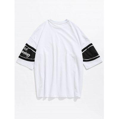 Drop Shoulder Net Insert TeeMens Short Sleeve Tees<br>Drop Shoulder Net Insert Tee<br><br>Collar: Round Neck<br>Material: Cotton<br>Package Contents: 1 x Tee<br>Pattern Type: Letter<br>Sleeve Length: Short<br>Style: Casual, Fashion<br>Weight: 0.3200kg