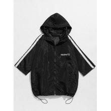 Zip Up Hooded Windbreaker Jacket
