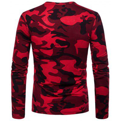 Camouflage Pattern Zipper Long Sleeve T-shirtMens Long Sleeves Tees<br>Camouflage Pattern Zipper Long Sleeve T-shirt<br><br>Collar: Crew Neck<br>Material: Cotton, Polyester<br>Package Contents: 1 x T-shirt<br>Pattern Type: Others<br>Season: Spring<br>Sleeve Length: Full<br>Style: Casual<br>Weight: 0.3150kg