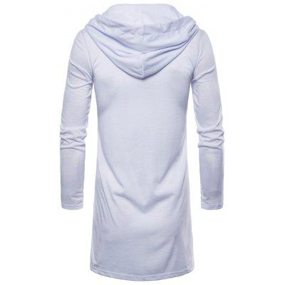 Hooded Open Front Long Sleeve T-shirtMens Long Sleeves Tees<br>Hooded Open Front Long Sleeve T-shirt<br><br>Collar: Hooded<br>Material: Cotton, Polyester<br>Package Contents: 1 x T-shirt<br>Pattern Type: Solid<br>Season: Spring<br>Sleeve Length: Full<br>Style: Casual<br>Weight: 0.4000kg