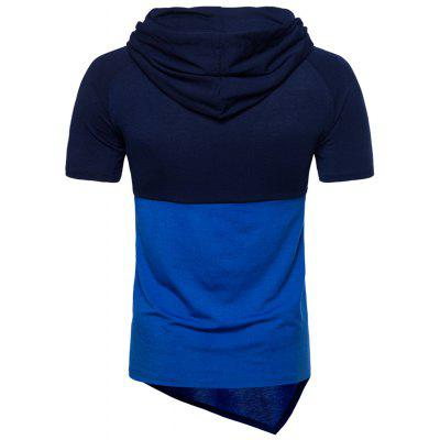 Hooded Color Block Short Sleeve Asymmetrical T-shirtMens Short Sleeve Tees<br>Hooded Color Block Short Sleeve Asymmetrical T-shirt<br><br>Collar: Hooded<br>Material: Cotton, Polyester<br>Package Contents: 1 x T-shirt<br>Pattern Type: Color Block<br>Sleeve Length: Short<br>Style: Casual<br>Weight: 0.3100kg