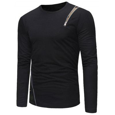 Crew Neck Camo Zipper Embellished T-shirtMens Long Sleeves Tees<br>Crew Neck Camo Zipper Embellished T-shirt<br><br>Collar: Crew Neck<br>Material: Cotton, Polyester<br>Package Contents: 1 x T-shirt<br>Pattern Type: Others<br>Season: Spring<br>Sleeve Length: Full<br>Style: Casual<br>Weight: 0.3500kg