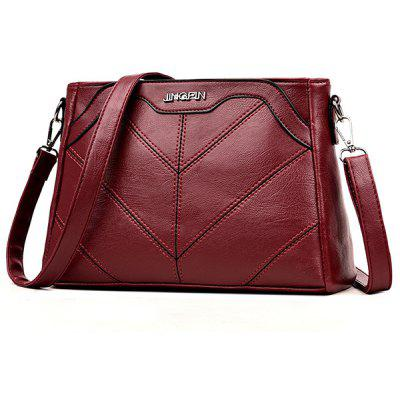 Quilted Faux Leather Chic Crossbody Bag metal lock quilted crossbody chain bag