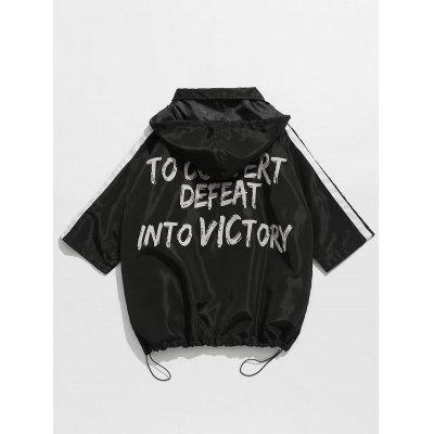 Zip Up Hooded Windbreaker JacketMens Jackets &amp; Coats<br>Zip Up Hooded Windbreaker Jacket<br><br>Clothes Type: Others<br>Collar: Hooded<br>Material: Cotton, Polyester<br>Package Contents: 1 x Jacket<br>Season: Fall, Spring<br>Shirt Length: Regular<br>Sleeve Length: 3/4 Length Sleeves<br>Style: Fashion, Casual<br>Weight: 0.3600kg