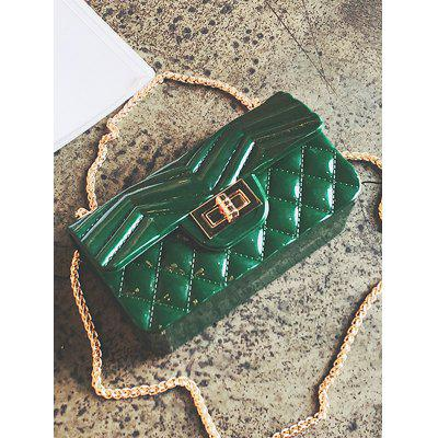 Jelly Pattern Crossbody Bag with Chain chain pattern masking tape
