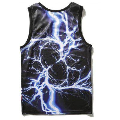 Lightning Print Tank TopMens Short Sleeve Tees<br>Lightning Print Tank Top<br><br>Material: Polyester<br>Package Contents: 1 x Tank Top<br>Pattern Type: Letter<br>Shirt Length: Regular<br>Style: Active<br>Weight: 0.2100kg