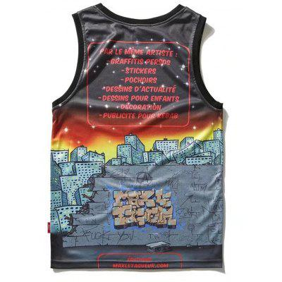 Active Cartoon Tank TopMens Short Sleeve Tees<br>Active Cartoon Tank Top<br><br>Material: Polyester<br>Package Contents: 1 x Tank Top<br>Pattern Type: Letter<br>Shirt Length: Regular<br>Style: Casual<br>Weight: 0.2100kg