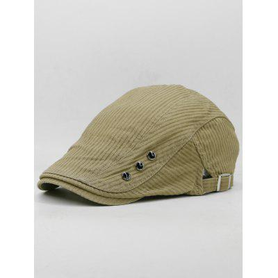 Striped Pattern Rivets Adjustable Newsboy Hat мясорубка аксион м 33 04