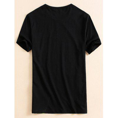 Short Sleeve Cartoon Printed T-shirtMens Short Sleeve Tees<br>Short Sleeve Cartoon Printed T-shirt<br><br>Collar: Crew Neck<br>Material: Cotton, Polyester<br>Package Contents: 1 x T-shirt<br>Pattern Type: Cartoon<br>Sleeve Length: Short<br>Style: Casual, Fashion<br>Weight: 0.2500kg