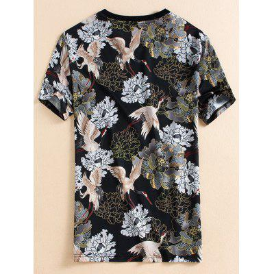 Short Sleeve Flower Bird Printed T-shirtMens Short Sleeve Tees<br>Short Sleeve Flower Bird Printed T-shirt<br><br>Collar: Crew Neck<br>Material: Cotton, Polyester<br>Package Contents: 1 x T-shirt<br>Pattern Type: Floral<br>Sleeve Length: Short<br>Style: Casual, Fashion<br>Weight: 0.2500kg