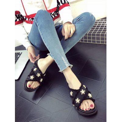Floral Decoration Cross Outdoor Slipper ShoesSlippers &amp; Flip-Flops<br>Floral Decoration Cross Outdoor Slipper Shoes<br><br>Gender: For Women<br>Heel Type: Platform<br>Package Contents: 1 x Slippers (pair)<br>Pattern Type: Floral<br>Season: Summer<br>Shoe Width: Medium(B/M)<br>Slipper Type: Outdoor<br>Style: Sweet<br>Upper Material: Synthetic<br>Weight: 1.2000kg