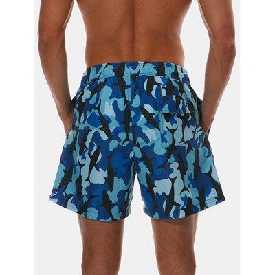 Camouflage Whale Print Drawstring Hawaiian Shorts killer whale print pillow cover