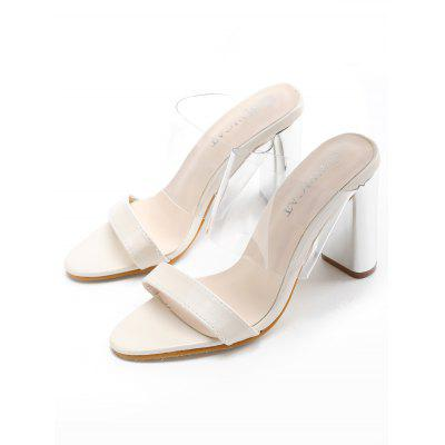 Lucid Wide Strap High Heel SandalsWomens Sandals<br>Lucid Wide Strap High Heel Sandals<br><br>Closure Type: Slip-On<br>Gender: For Women<br>Heel Height: 10CM<br>Heel Height Range: High(3-3.99)<br>Heel Type: Chunky Heel<br>Occasion: Casual<br>Package Contents: 1 x Sandals (pair)<br>Pattern Type: Others<br>Sandals Style: Slides<br>Shoe Width: Medium(B/M)<br>Style: Fashion<br>Upper Material: PU<br>Weight: 1.5000kg