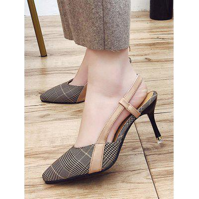 Stiletto Heel Pointed Toe Slingback PumpsWomens Pumps<br>Stiletto Heel Pointed Toe Slingback Pumps<br><br>Heel Height: 6CM<br>Heel Height Range: Med(1.75-2.75)<br>Heel Type: Stiletto Heel<br>Occasion: Casual<br>Package Contents: 1 x Pumps (pair)<br>Pumps Type: Slingbacks<br>Season: Spring/Fall<br>Shoe Width: Medium(B/M)<br>Toe Shape: Pointed Toe<br>Toe Style: Closed Toe<br>Upper Material: Synthetic<br>Weight: 1.3800kg