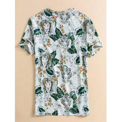 Short Sleeve Floral Lion Printed T-shirtMens Short Sleeve Tees<br>Short Sleeve Floral Lion Printed T-shirt<br><br>Collar: Crew Neck<br>Material: Cotton, Polyester<br>Package Contents: 1 x T-shirt<br>Pattern Type: Animal, Floral<br>Sleeve Length: Short<br>Style: Fashion, Casual<br>Weight: 0.2500kg