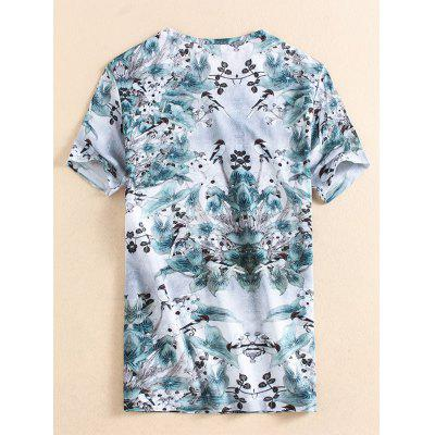 Short Sleeve Birds Printed T-shirtMens Short Sleeve Tees<br>Short Sleeve Birds Printed T-shirt<br><br>Collar: Crew Neck<br>Material: Cotton, Polyester<br>Package Contents: 1 x T-shirt<br>Pattern Type: Animal, Floral<br>Sleeve Length: Short<br>Style: Fashion, Casual<br>Weight: 0.2500kg