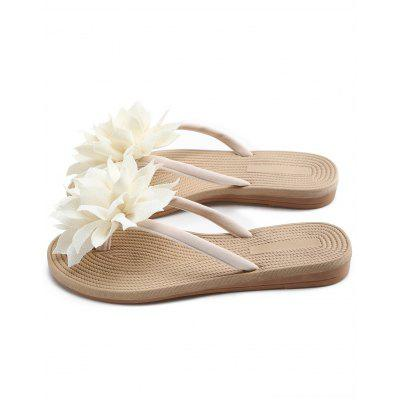 Floral Decorated Flat Heel Flip FlopsSlippers &amp; Flip-Flops<br>Floral Decorated Flat Heel Flip Flops<br><br>Embellishment: Flowers<br>Gender: For Women<br>Heel Type: Flat Heel<br>Package Contents: 1 x Flip Flops (pair)<br>Pattern Type: Floral<br>Season: Spring/Fall<br>Shoe Width: Medium(B/M)<br>Slipper Type: Outdoor<br>Style: Leisure<br>Upper Material: Synthetic<br>Weight: 1.1400kg