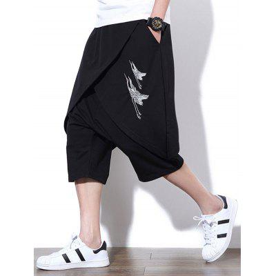Irregular Capri PantsMens Shorts<br>Irregular Capri Pants<br><br>Closure Type: Elastic Waist<br>Fit Type: Regular<br>Front Style: Flat<br>Length: Knee-Length<br>Material: Cotton, Polyester<br>Package Contents: 1 x Cropped Pants<br>Style: Casual, Fashion<br>Waist Type: Mid<br>Weight: 0.5700kg<br>With Belt: No
