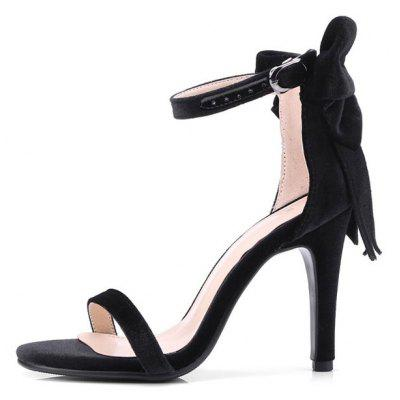 Bowknot Stiletto Heel Ankle Strap SandalsWomens Sandals<br>Bowknot Stiletto Heel Ankle Strap Sandals<br><br>Closure Type: Buckle Strap<br>Embellishment: Bow<br>Gender: For Women<br>Heel Height: 11CM<br>Heel Height Range: Super High(Above4)<br>Heel Type: Stiletto Heel<br>Occasion: Party<br>Package Contents: 1 x Sandals (pair)<br>Pattern Type: Bowknot<br>Sandals Style: Ankle Strap<br>Shoe Width: Medium(B/M)<br>Style: Fashion<br>Upper Material: Suede<br>Weight: 1.5000kg