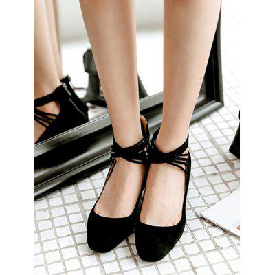 Cross Strap Block Heel Back Zip PumpsWomens Pumps<br>Cross Strap Block Heel Back Zip Pumps<br><br>Embellishment: Criss-Cross<br>Heel Height: 8CM<br>Heel Type: Chunky Heel<br>Occasion: Casual<br>Package Contents: 1 x Pumps (pair)<br>Pumps Type: Gladiator<br>Season: Spring/Fall, Summer<br>Toe Shape: Square Toe<br>Toe Style: Closed Toe<br>Upper Material: Suede<br>Weight: 1.3800kg
