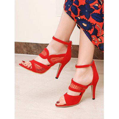 Lace Stiletto Heel Ankle Strap SandalsWomens Sandals<br>Lace Stiletto Heel Ankle Strap Sandals<br><br>Closure Type: Zip<br>Embellishment: Lace<br>Gender: For Women<br>Heel Height: 12CM<br>Heel Type: Stiletto Heel<br>Occasion: Casual<br>Package Contents: 1 x Sandals (pair)<br>Pattern Type: Others<br>Sandals Style: Ankle Strap<br>Style: Fashion<br>Upper Material: Velvet<br>Weight: 1.5000kg