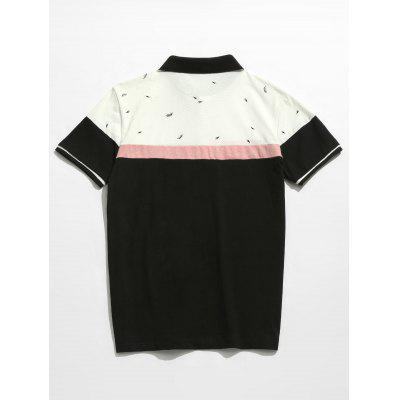 Color Block Printed Polo TeeMens Short Sleeve Tees<br>Color Block Printed Polo Tee<br><br>Collar: Polo Collar<br>Material: Cotton<br>Package Contents: 1 x Tee<br>Pattern Type: Print<br>Sleeve Length: Short<br>Style: Casual, Fashion<br>Weight: 0.2600kg