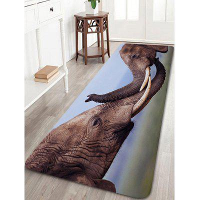 Buy Two Elephants Playing Print Floor Rug, DEEP BROWN, Home & Garden, Home Textile, Bedding, Blankets & Throws for $14.27 in GearBest store