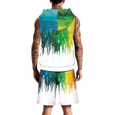 Colorful Paint Printed Drawstring Hoodies Tank Top and ShortsMens Short Sleeve Tees<br>Colorful Paint Printed Drawstring Hoodies Tank Top and Shorts<br><br>Material: Cotton, Spandex<br>Package Contents: 1 x Tank Top 1 x Shorts<br>Pattern Type: Print<br>Shirt Length: Regular<br>Style: Casual<br>Weight: 0.7250kg