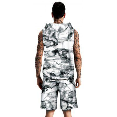 Smog Pattern Sleeveless Hoodies Tank Top and ShortsMens Short Sleeve Tees<br>Smog Pattern Sleeveless Hoodies Tank Top and Shorts<br><br>Material: Cotton, Spandex<br>Package Contents: 1 x Tank Top 1 x Shorts<br>Pattern Type: Cross<br>Shirt Length: Regular<br>Style: Casual<br>Weight: 0.7000kg