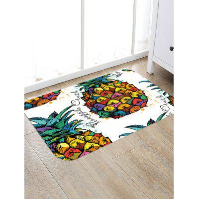 Colorful Pineapple Pattern Skidproof Area RugBlankets &amp; Throws<br>Colorful Pineapple Pattern Skidproof Area Rug<br><br>Materials: Polyester<br>Package Contents: 1 x Area Rug<br>Pattern: Fruit<br>Products Type: Bath Mats<br>Shape: Rectangular<br>Style: Natural