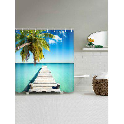 Sea Bridge Coconut Tree Print Shower CurtainShower Curtain<br>Sea Bridge Coconut Tree Print Shower Curtain<br><br>Materials: Polyester<br>Number of Hook Holes: W59 inch*L71 inch: 10; W71 inch*L71 inch: 12; W71 inch*L79 inch: 12<br>Package Contents: 1 x Shower Curtain 1 x Hooks (Set)<br>Products Type: Shower Curtains<br>Style: Natural