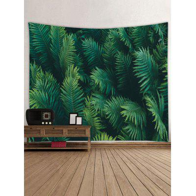 Palm Leaves Print Tapestry Wall Hanging Art palm plants print wall art hanging tapestry