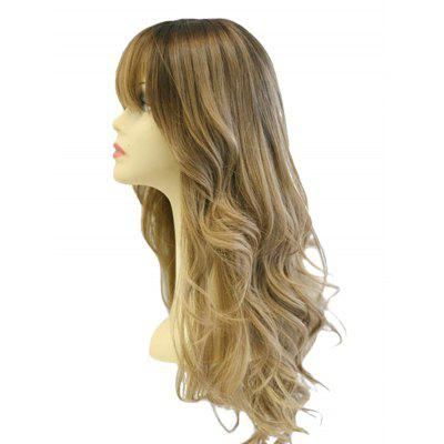 Long Full Bang Colormix Wavy Party Synthetic Wig 65cm cosplay wig lady long wavy hair full wigs party 3 colors