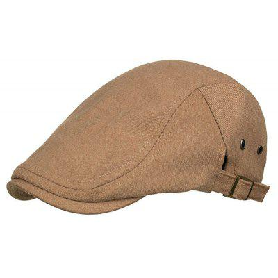 Simple Line Embroidery Breathable Cabbie Hat