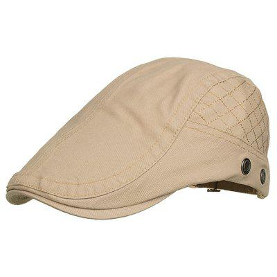 Plaid Embroidery Breathable Newsboy Hat