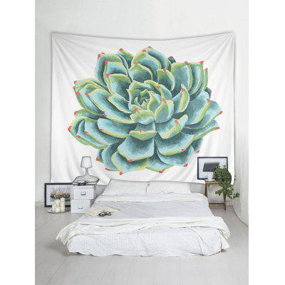 Succulents Plant Painting Printed Wall TapestryBlankets &amp; Throws<br>Succulents Plant Painting Printed Wall Tapestry<br><br>Feature: Removable<br>Material: Polyester<br>Package Contents: 1 x Tapestry<br>Shape/Pattern: Plant<br>Style: Natural<br>Theme: Plants/Flowers<br>Weight: 0.4600kg