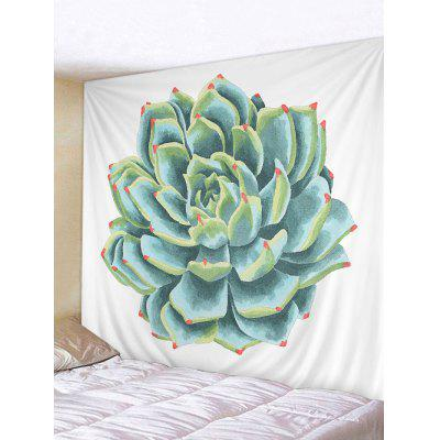 Succulents Plant Painting Printed Wall Tapestry
