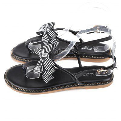 PU Leather T Strap Bowknot Flat Heel SandalsWomens Sandals<br>PU Leather T Strap Bowknot Flat Heel Sandals<br><br>Closure Type: Buckle Strap<br>Gender: For Women<br>Heel Type: Flat Heel<br>Occasion: Casual<br>Package Contents: 1 x Sandals(pair)<br>Pattern Type: Bowknot<br>Sandals Style: T-Strap<br>Style: Fashion<br>Upper Material: PU<br>Weight: 1.1400kg