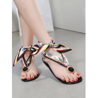 Bead Clip Toe Beach Style Flat Heel SandalsWomens Sandals<br>Bead Clip Toe Beach Style Flat Heel Sandals<br><br>Closure Type: Buckle Strap<br>Gender: For Women<br>Heel Type: Flat Heel<br>Occasion: Casual<br>Package Contents: 1 x Sandals (pair)<br>Pattern Type: Others<br>Sandals Style: Ankle Strap<br>Shoe Width: Medium(B/M)<br>Style: Leisure<br>Upper Material: Synthetic<br>Weight: 1.2000kg