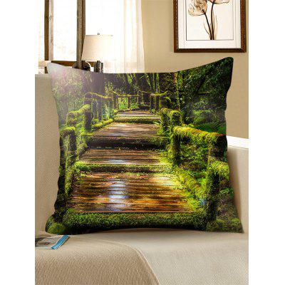 Tropical Rain Forest Wood Bridge Print Pillow CasePillow<br>Tropical Rain Forest Wood Bridge Print Pillow Case<br><br>Material: Linen<br>Package Contents: 1 x Pillowcase<br>Pattern: Forest<br>Shape: Square<br>Style: Natural<br>Weight: 0.1300kg