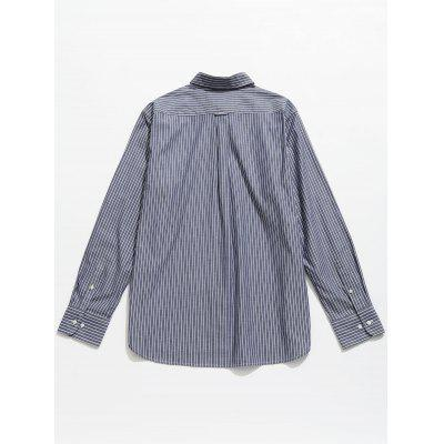 Pinstriped Button Down ShirtMens Shirts<br>Pinstriped Button Down Shirt<br><br>Collar: Shirt Collar<br>Material: Cotton<br>Package Contents: 1 x Shirt<br>Shirts Type: Casual Shirts<br>Sleeve Length: Full<br>Weight: 0.3100kg