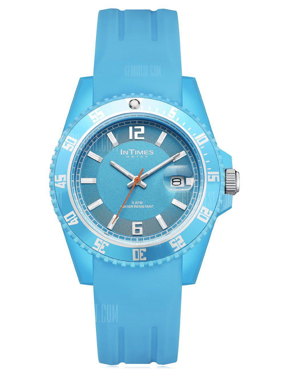 InTimes Plastic Case Silicone Band Wristwatch