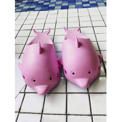 Dolphin Shape Slip On Swim SlippersSlippers &amp; Flip-Flops<br>Dolphin Shape Slip On Swim Slippers<br><br>Gender: For Women<br>Heel Type: Flat Heel<br>Package Contents: 1 x Slippers (pair)<br>Pattern Type: Others<br>Season: Spring/Fall, Summer<br>Shoe Width: Medium(B/M)<br>Slipper Type: Indoor<br>Style: Leisure<br>Upper Material: Synthetic<br>Weight: 1.2000kg