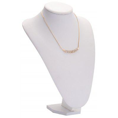Old Classical Rhinestone Wheat Alloy Chokers Necklace